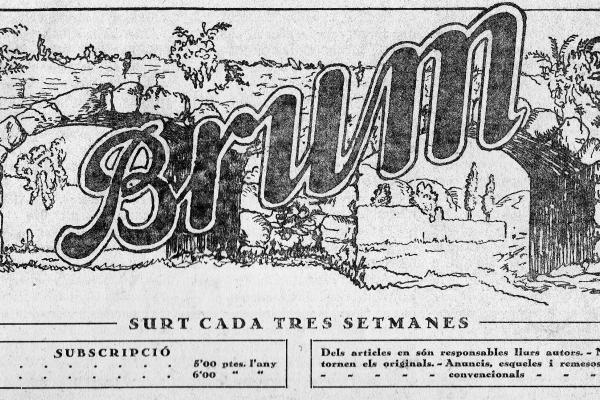 Capçalera del Brum (1931). Fons municipal.