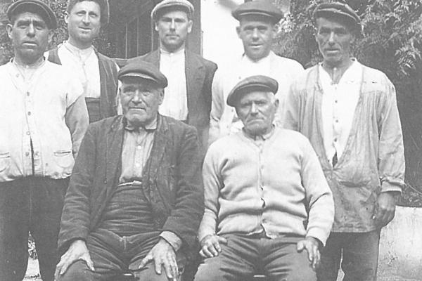 Socis fundadors (1900). Fons Masdeu Esteve.